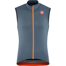 Castelli Entrata 3 FZ Sleeveless Jersey Herr light steel/blue